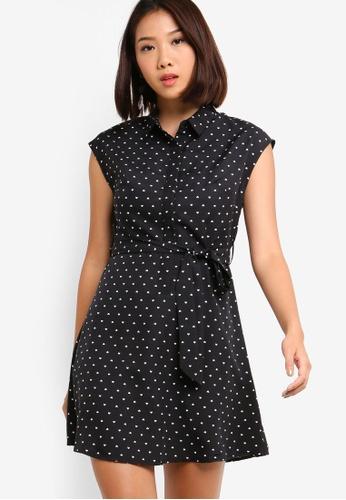 Something Borrowed 黑色 Waist Tie Shirt Dress 604E7AAE73C6C2GS_1