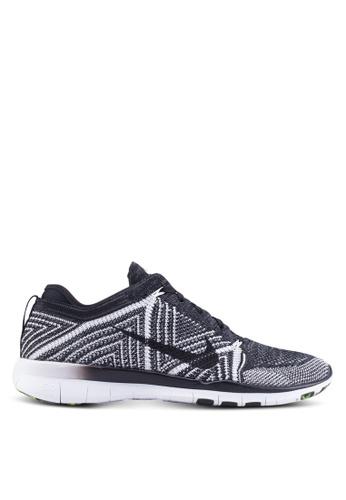 Nike black and white Nike Free TR Flyknit Training Shoes NI126SH87VGUMY_1