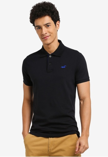 Hollister black Solid Core Polo Shirt 5F396AA6219E63GS_1