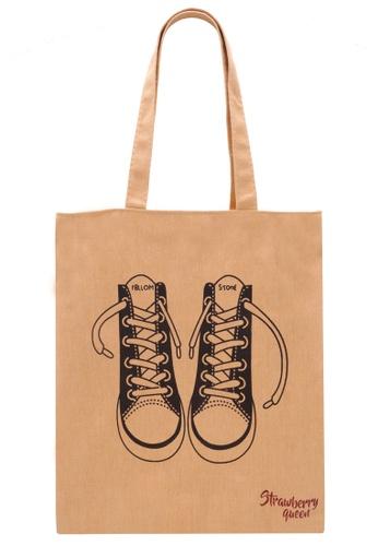 STRAWBERRY QUEEN yellow Zipper Canvas Tote Bag (Yellow Q) 5A80BAC82E5981GS_1