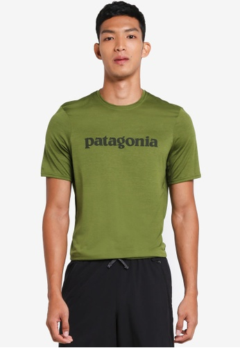 Patagonia green Cap Daily Graphic T-Shirt PA549AA0SVNYMY_1