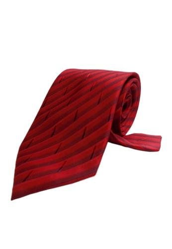 Well Suited red Modern Shaded Stripe Necktie 2241DAC5F26C80GS_1