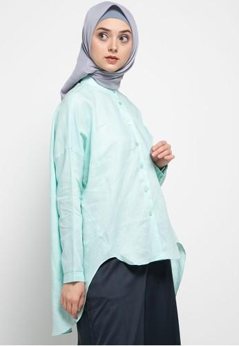 L.tru green Dw Crosse Plain Shirt 0396 BBB57AA484DB4EGS_1