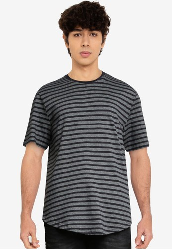 Only & Sons navy Almir Short Sleeve Stripe Tee E45F3AA50991F5GS_1