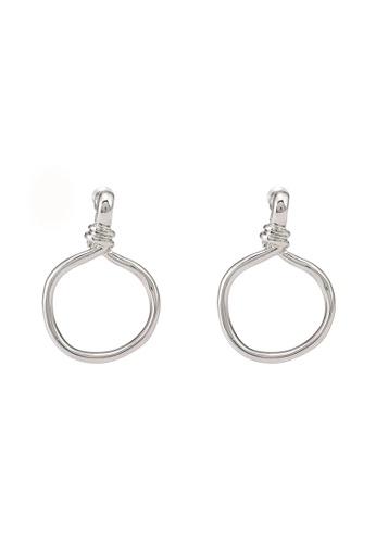 niko and ... silver Circular Earrings 56A48ACD7AEA96GS_1