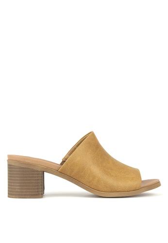 Betts brown Eva Block heeled Mule 6F807SH3A3A4ECGS_1