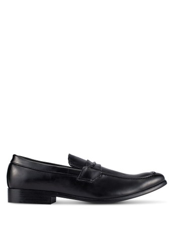 UniqTee black Business Dress Shoes With Strap Detail UN097SH0S21SMY_1