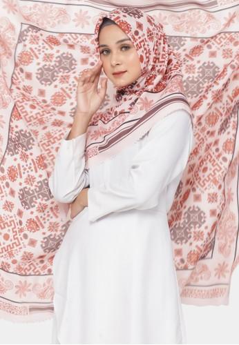 zelena orange Hijab Square Segiempat Motif Gorontalo Etnic - Teracotta 4ABD3AABF4C32EGS_1