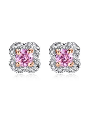 SUNRAIS silver High quality Silver S925 silver flower earrings D80B0AC0651D4FGS_1