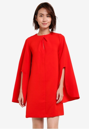 River Island red LS KATE SWING DRESS RI009AA0S8RYMY_1