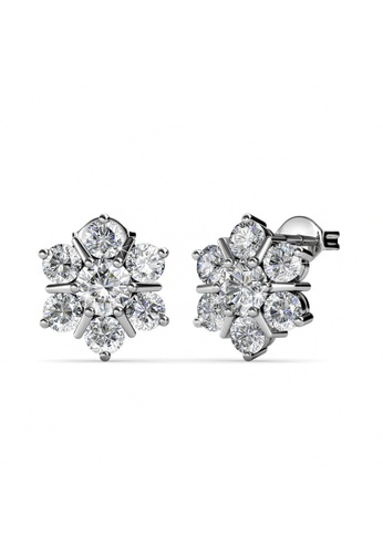 Her Jewellery silver Her Jewellery Flowery Earrings embellished with Crystals from Swarovski BB61BAC049D8F8GS_1