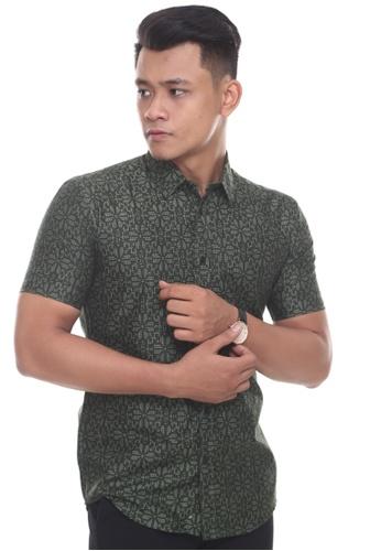 UA BOUTIQUE green Short Sleeve Shirt SSB04-071 (Olive Green) 3B8B8AA2AE1E37GS_1