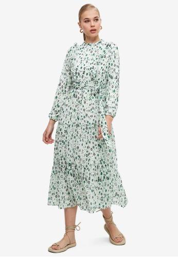 Trendyol green Printed Midi Dress 4C7FEAA0EDD752GS_1