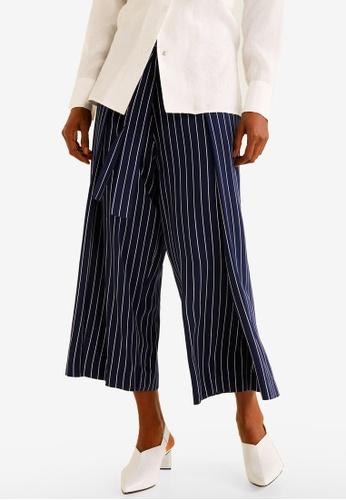 Mango navy Striped Bow Trousers 9F5DDAA70C2E57GS_1