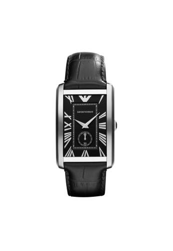 Emporio Armaniesprit台灣門市 MARCO方型錶款系列腕錶 AR1604, 錶類, 時尚型