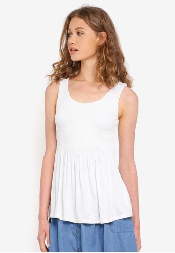 ESPRIT white Short Sleeve T-Shirt 33A02AA0FEA659GS_1