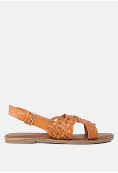 1c895205fb93 London Rag brown Weaved Strap Flat Sandal 6BEC2SH9960908GS 1