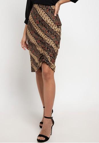Rianty Batik brown Rok Grafiela Brown E7A3FAAD1C5398GS_1