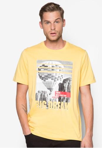 熱氣球印花圓領TEE, 服esprit台灣門市飾, 印圖T恤