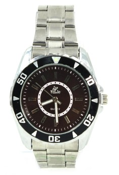 Valia Theo Unisex Brown Stainless Steel Strap Watch 8168