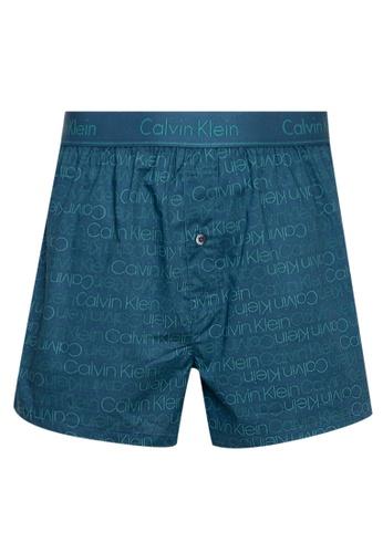Calvin Klein navy Woven Boxers 955F2US59E787CGS_1