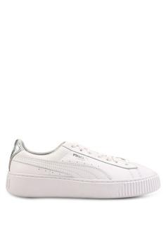 067cde7ace Puma white Basket Platform Opulent Sneakers E80D7SHF019A6DGS_1
