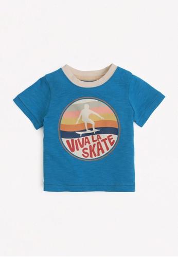 Gingersnaps blue Baby Boys Skate T-Shirt 9A4E0KA28B6499GS_1