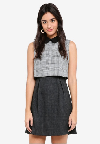 ZALORA multi Crop Top Mini Dress 18321AAF94ECC3GS_1