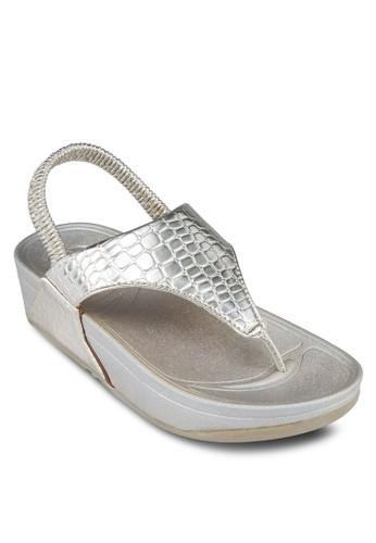 夾腳esprit暢貨中心繞踝厚底涼鞋, 女鞋, 涼鞋
