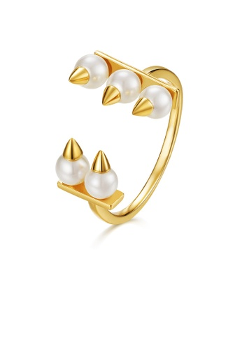 SUNSET gold Premium 9K Gold Pearl Ring 727ECAC1A3AA19GS_1