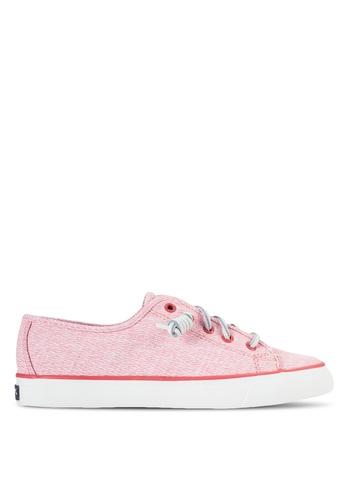 Sperry pink Seacoast Diamond Print Sneakers SP132SH30PLXMY_1