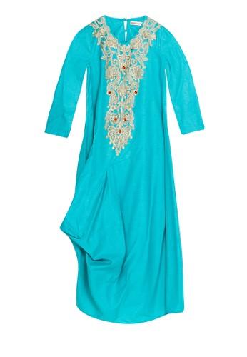Nayara blue Gamis Kian 93044KA92B5FA8GS_1