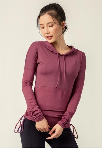 HAPPY FRIDAYS Women's Elastic Running Hoodie DK-WT12 04C52AAB79418DGS_1