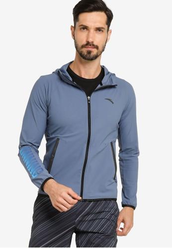 Anta grey Running Knit Track Jacket 76D82AA9B4F5CAGS_1