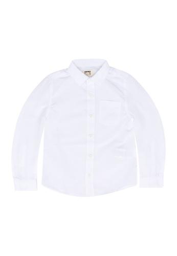 KOTON white Long Sleeve Shirt 82610KA27688BBGS_1