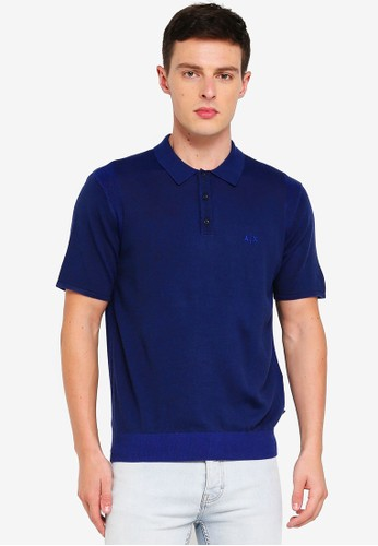 Armani Exchange navy Clean Sweater Polo Shirt 64B8FAAF673739GS_1