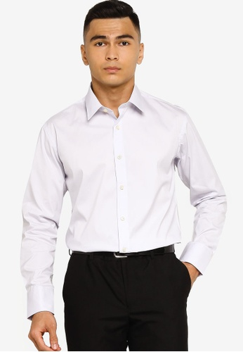 Sacoor Brothers purple Slim fit super comfort easy iron shirt 4615CAA0E63D1AGS_1