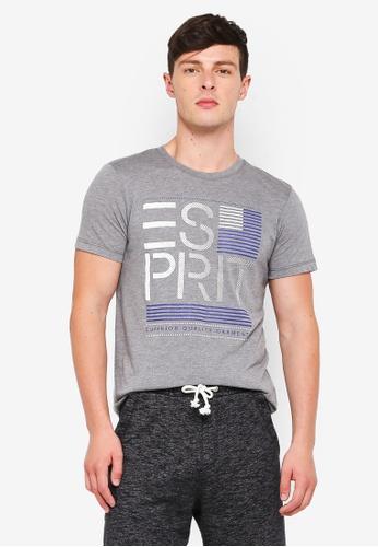ESPRIT grey Short Sleeve T-Shirt 9F9C4AA6AEF5D1GS_1