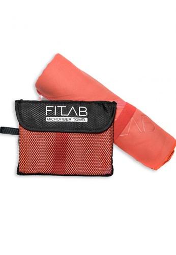 Fitlab red and orange Microfiber Bath Towel ED074HL5CA95BCGS_1