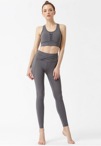 B-Code grey ZYG3061-Lady Quick Drying Running Fitness Yoga Sports Leggings -Grey 1C3FBAA6C7F766GS_1