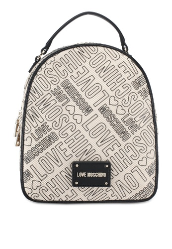 Love Moschino white Borsa Canvas Natu Backpack LO478AC0SEIFMY_1
