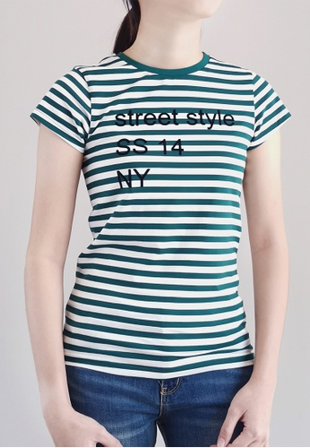 SUB green Women Graphic Tee 4A877AAA24824EGS_1