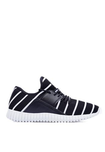 Life8 black Flex Pro Stripe Knit Spring Sport Shoes-09357-Black LI286SH49XBIMY_1