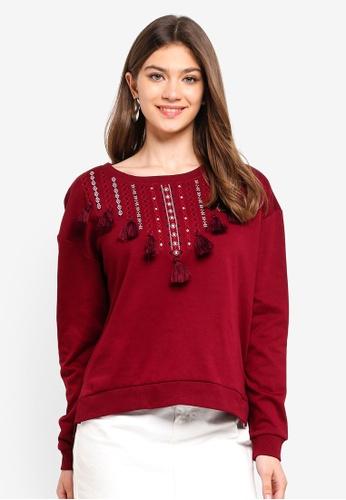 ONLY brown Robertha L/S O-Neck Sweatshirt 9030FAA0E14B2CGS_1