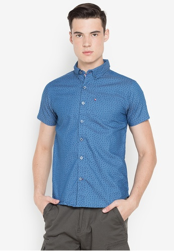 Ego blue Short Sleeves Shirt 8E6FDAA4F8BDE5GS_1