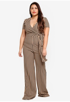 68e2c1039b2 MISSGUIDED Plus Size Stripe Wide Leg Jumpsuit RM 155.00. Sizes 16 18 20 22  24
