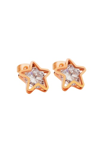 CELOVIS gold CELOVIS - Avvia Zirconia with Iconic Star Stud Earrings 14AAAACDEDFE0DGS_1
