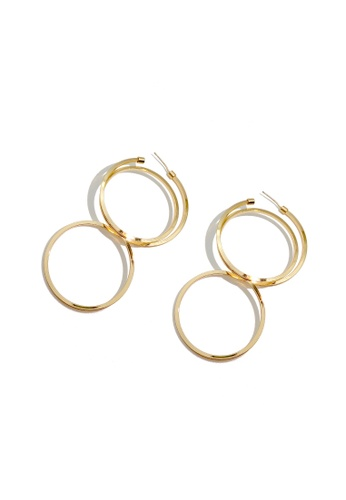 Mellow gold Double Rings Earrings E33A2AC6A0792CGS_1