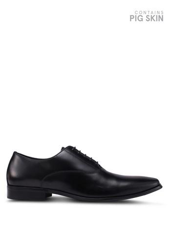 Dune London black Paramore Chisel Toe Oxford Shoes 0612ESH39A7891GS_1