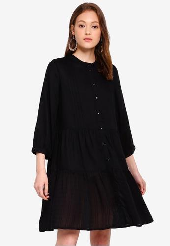 Pieces 黑色 褶飾洋裝 20D55AA0D7614BGS_1
